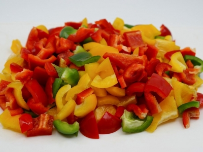 Fresh Bell Peppers used in Mexican Recipes at El Rosal Restaurant in Patterson CA