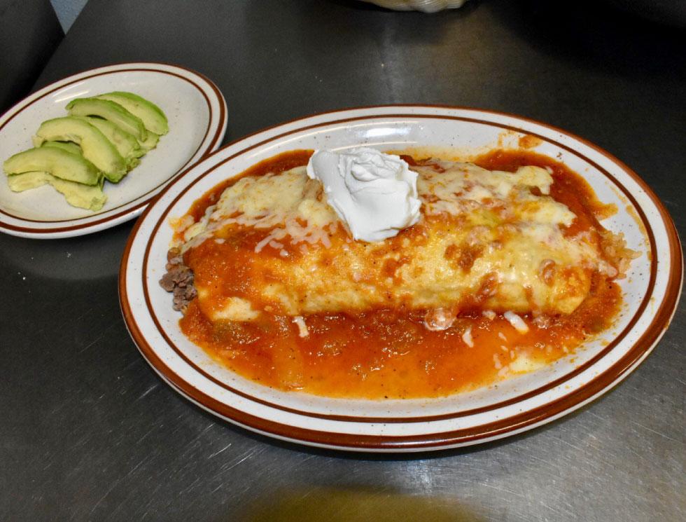 Burritos Supreme at El Rosal, Mexican Restaurant in Patterson, CA