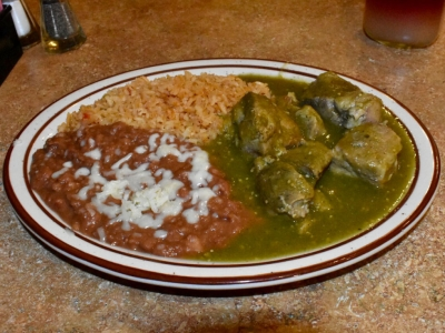Chili Verde at El Rosal, Mexican Restaurant in Patterson, CA