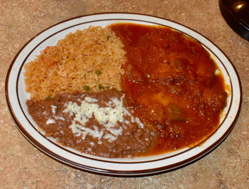 Chili Rellenos at El Rosal, Mexican Restaurant in Patterson, CA