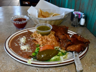 Milanesa at El Rosal, Mexican Restaurant in Patterson, CA