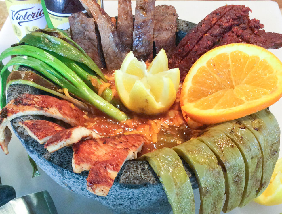 Molcajete - Delicious! El Rosal Mexican Restaurant in Patterson CA