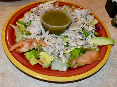 Shredded Chicken Salad at El Rosal, Mexican Restaurant in Patterson, CA