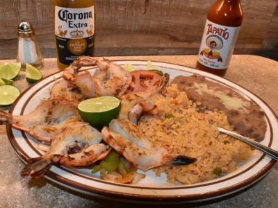 Shrimp a la Plancha - El Rosal Restaurant & Bar in Patterson, Ca
