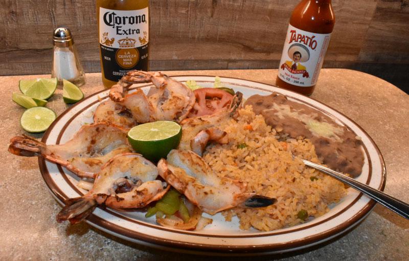 Shrimp a la Plancha - El Rosal Restaurant & Bar in Patterson, Ca