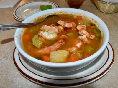 Shrimp Soup at El Rosal, Mexican Restaurant in Patterson, CA