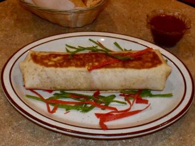 Taco Truck Burrito at El Rosal, Mexican Restaurant in Patterson, CA